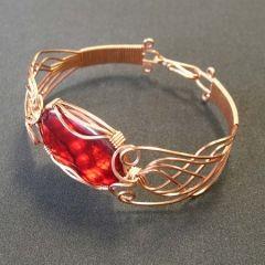 Copper Art Nouveau Bangle