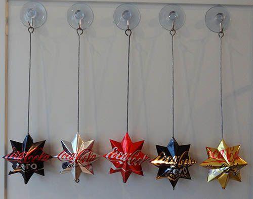 Hanging soda can stars (written instructions in Swedish)