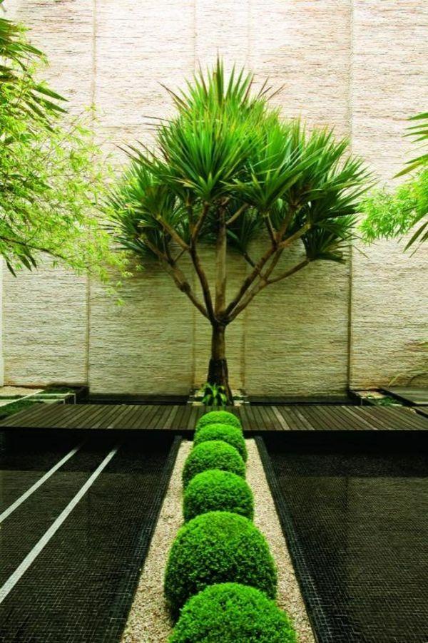 100 Bilder zur Gartengestaltung – die Kunst die Natur zu modellieren - immergrüne pflanzen und interessanter bodenbelag #fengshui #feng_shui #garten