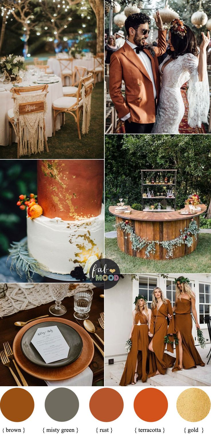 Rust Terracotta and Misty Green For Boho Fall Wedding