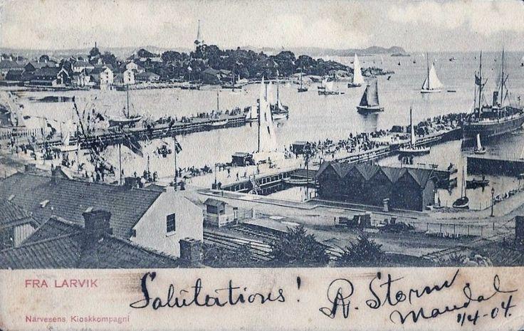 Vestfold fylke Larvik brukt 1904 Utg Narvesen