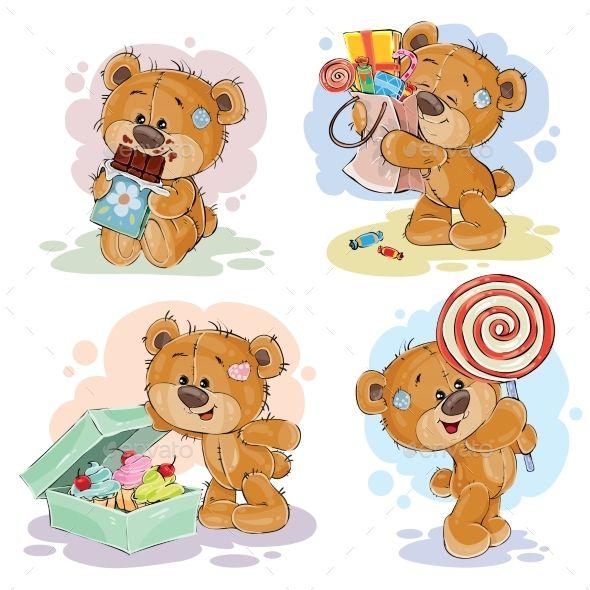 Illustrations with Teddy Bear Theme