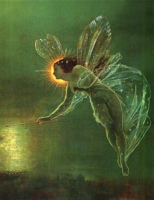 ≍ Nature's Fairy Nymphs ≍ magical elves, sprites, pixies and winged woodland faeries - Spirit of the Night by John Atkinson Grimshaw