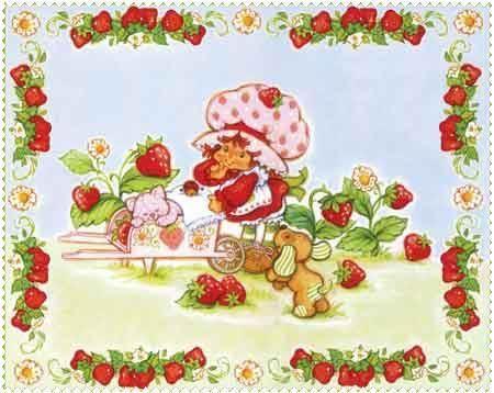 Designerstoffe USA - Emily Erdbeer- Panel Erdbeerranken - ein Designerstück von Der-Stoffstand bei DaWanda