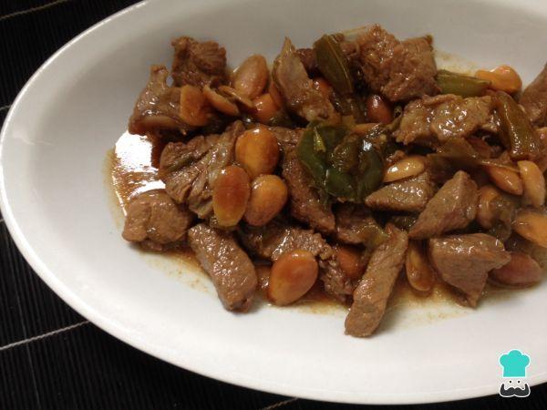 Receta de Ternera en salsa de soja - RecetasGratis.net