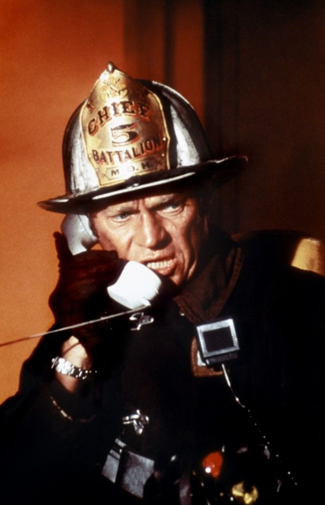 Steve McQueen in The Towering Inferno (John Guillermin, 1974)