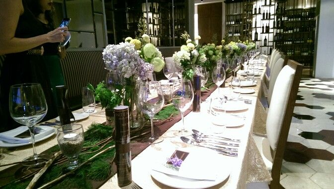Centerpiece & Table Manners for launching dinner D&G INTENSO, Decor & Flowers by @infinita_8