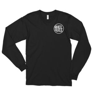 american apparel brand wheel and axle made in america long sleeve shirt