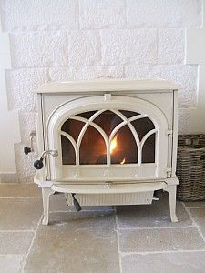 wood burning stove ~ white