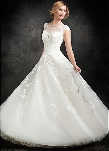 Sheer details bridal dress
