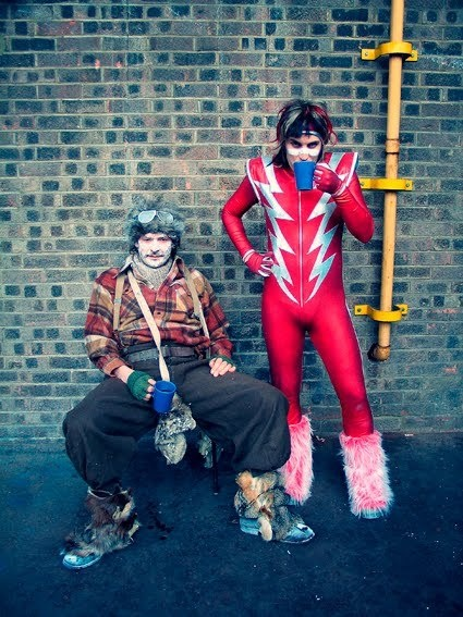 Come with us now on a journey through time and space. The mighty boosh.