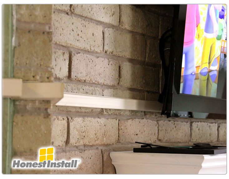 Tv Over Fireplace Hide Wires - Sesapro.com