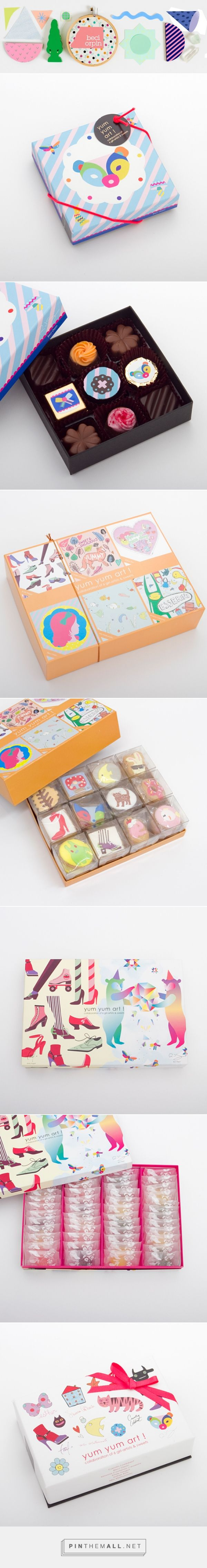 sweets for isetan via Beci Orpin's Blog curated by Packaging Diva PD. How cute is this yum yum chocolate packaging : )