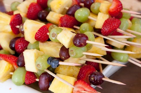 Fruit Skewers for a Backyard BBQ or Picnic