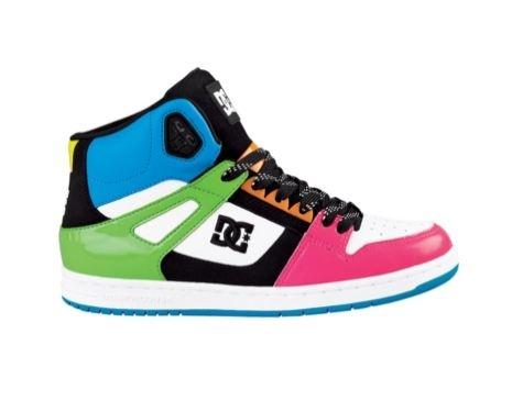 Womens Dc Rebound Hi Skate Shoe Black Aqua Leopard