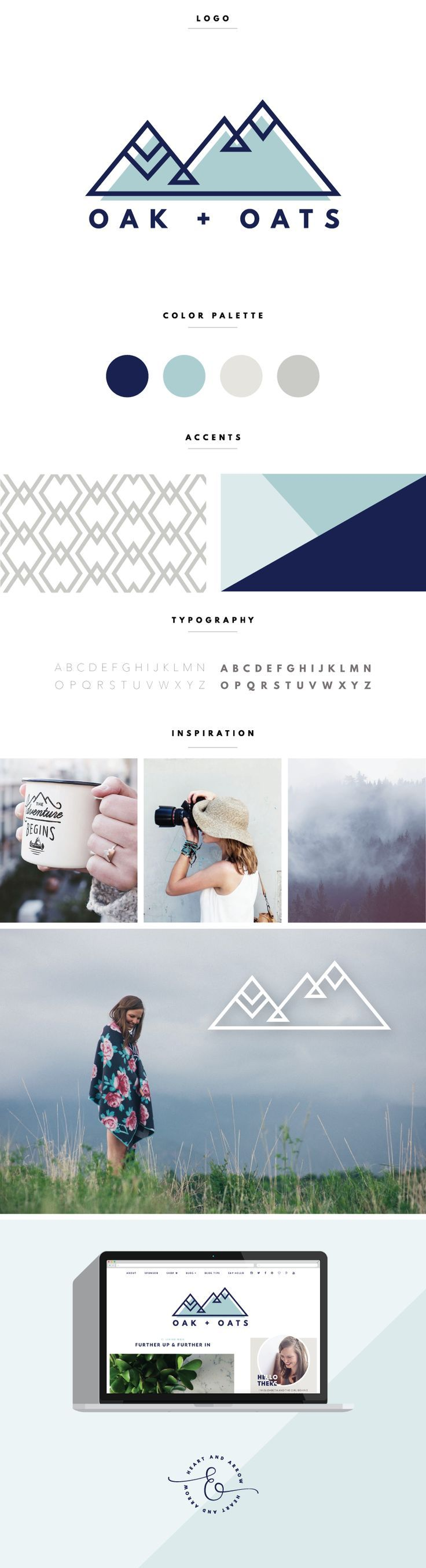 Modern Geometric Blog Logo and Design  /  by Heart & Arrow