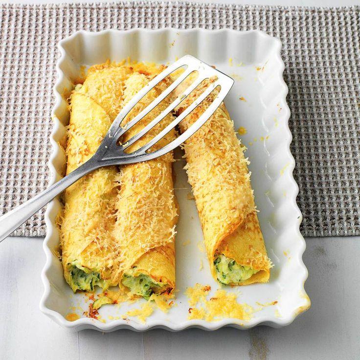Überbackene Zucchini-Ricotta-Crespelle