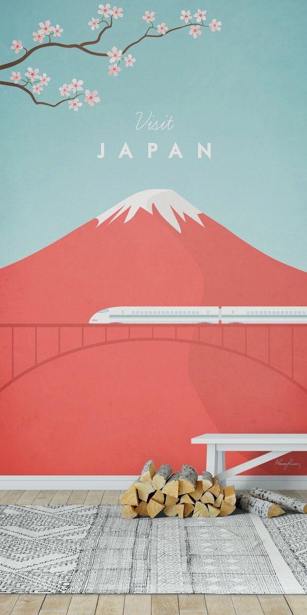 Japan Travel Poster Wall Mural Art Wallpaper Travel Posters