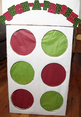Kids Christmas Crafts - Punch a Present - Click Pic for 18 Christmas Party Ideas for School