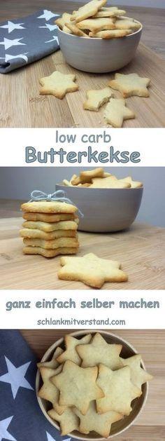 low carb Butterkekse einfach selber machen Bei uns gab es heute wieder leckere Butterkekse. Das Mandelmehl sollte entölt sein. Zutaten für ca. 30 Stück: 100 g Butter, weich 80 g * Mandelmehl, entöl…