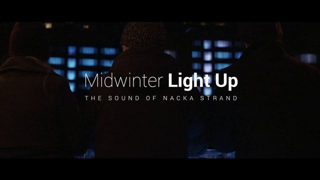 Director: Patrik Gyllström  On December 21st, the darkest night of the year Nacka strand turned a 5000 sqm office building into a giant interactive music sequencer, generating a vibrant light show defying the midwinter darkness.   http://midwinterlightup.com