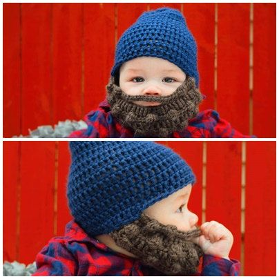 Bearded hat Baby boy hat Baby beard hat by WolfordCrochetShop We LOVE LOVE LOVE this ADORABLE, high quality, and affordable bearded baby hat! Perfect for the little man in your life!