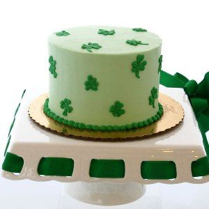 St. Patrick's Day Cake available at Carolines Cakes