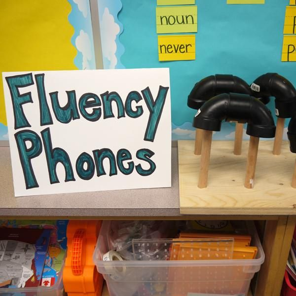 INSTRUCTION Students use fluency phones in order to hear themselves reading aloud in a busy classroom full of their peers. This activity is set up in the classroom for students to use any time. The goal of this activity is to promote speed, accuracy, and proper expression in reading for students.