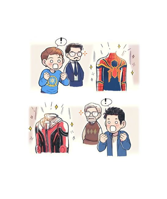 """Dorks being excited to see their new suits Amazing girl superhero. I'd be happy to welcome a physical <a href=""""https://hembra.club/"""">superhero</a>"""
