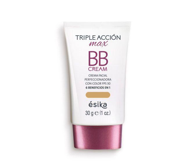 Dale un mejor acabado a tu maquillaje usando la BB Cream Triple Acción Max. No solo le da una textura mate a tu rostro, emparejando su tono sino que también lo protege de los rayos del sol. La BB Cream Triple Acción Max combina los efectos del maquillaje con la protección solar ya que contiene FPS 30 y UVA, dándole a tu rostro el cuidado que necesita, a la vez te brinda un cutis lindo y sin brillo. Capacidad: FPS 30 30 g / 1 oz.