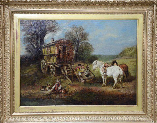 Harden Sidney Melville, A Gypsy Encampment, Oil on : Lot 987