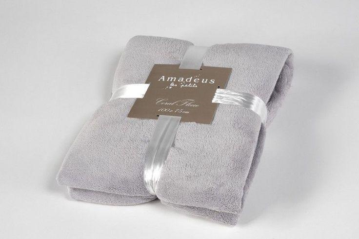 Plaid doudou gris 75x100cm - Amadeus