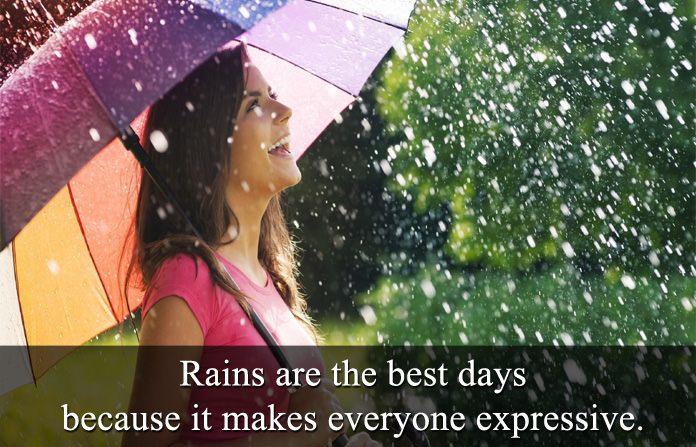 Rain Status Monsoon Quotes Rain Status Funny Rain Quotes