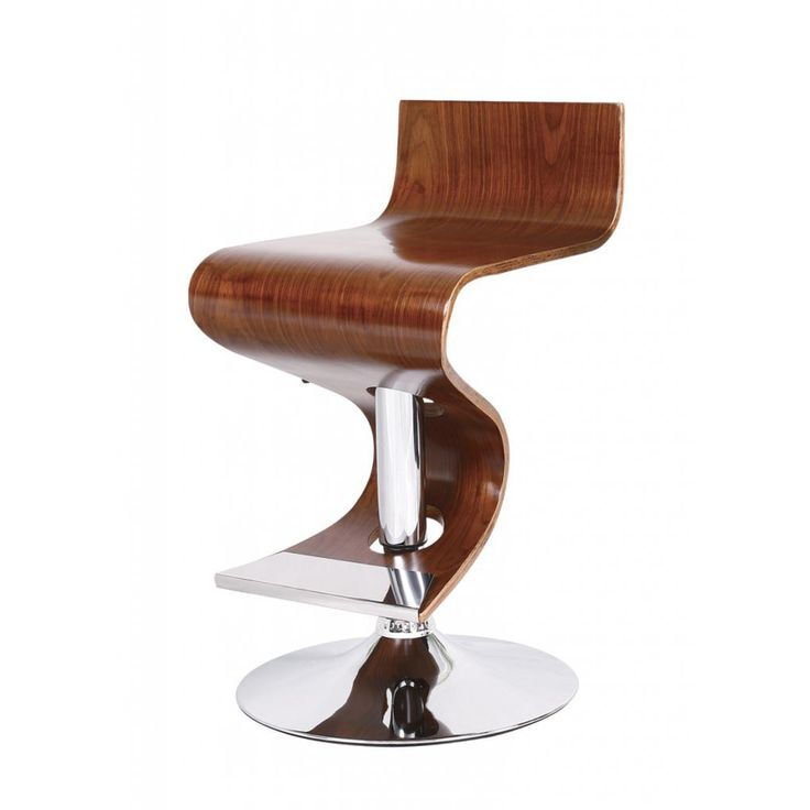 Walnut Adjustable Retro Bar Stool   Overstock.com Shopping - Great Deals on Bar Stools