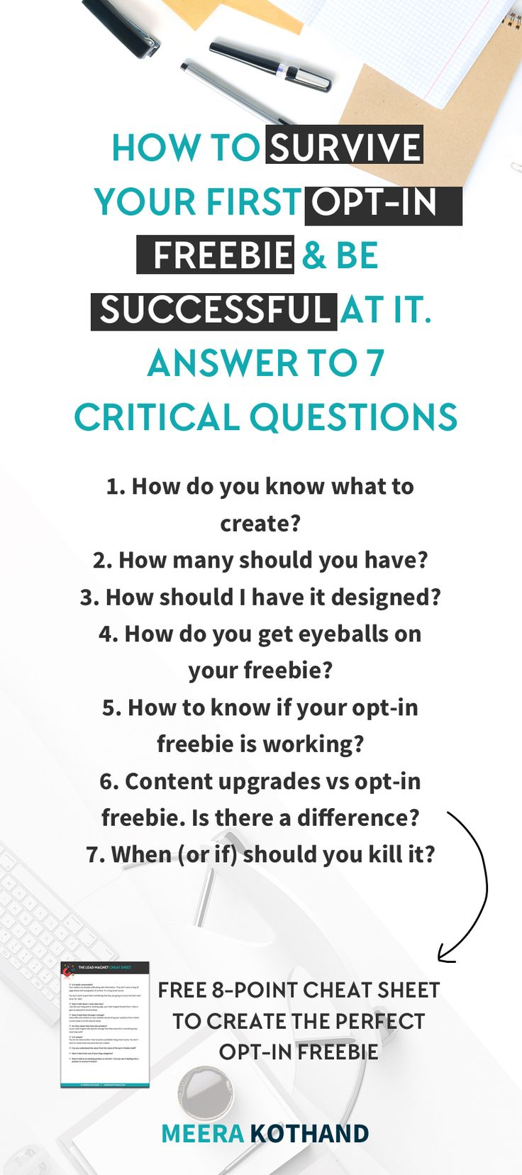 Are you in the midst of creating your first opt-in freebie? Wish you could get answers to all those pesky opt-in freebie questions on your mind?   Click to get answers to 7 burning opt-in freebie questions and a checklist to create the perfect opt-in freebie.