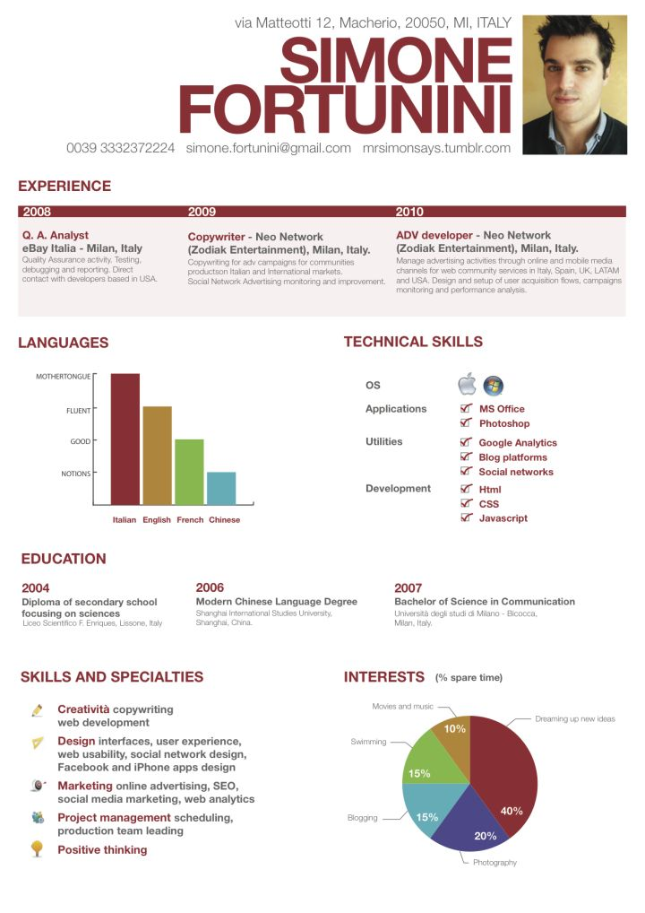 47 best Resume images on Pinterest Infographic, Business - infographic resume examples