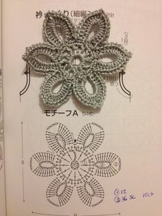 Amor por Art em Crochê: Flor de Crochê Net