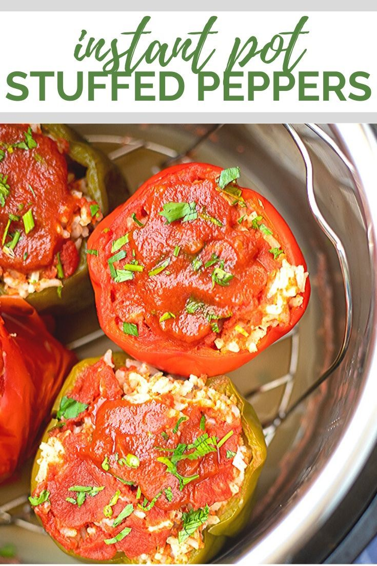 Instant Pot Stuffed Bell Peppers Have All The Traditional Flavors Of The Classic Recipe No Stuffed Peppers Instant Pot Dinner Recipes Easy Instant Pot Recipes