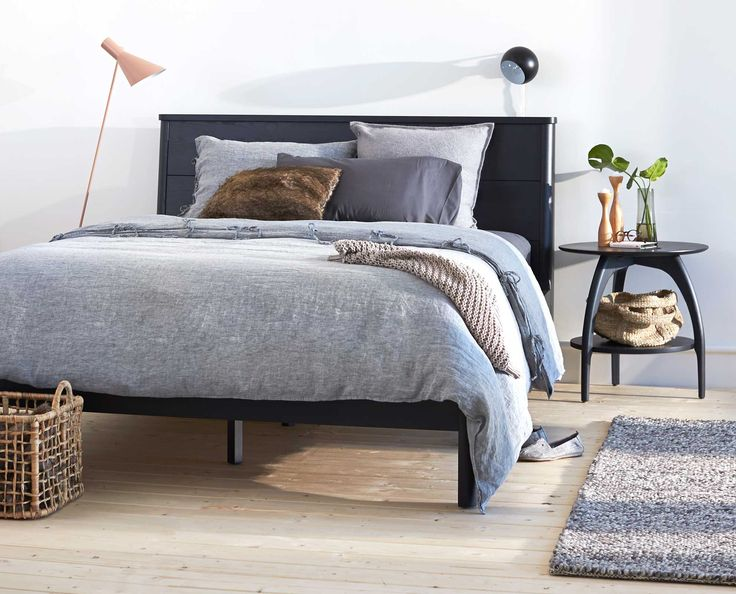 Scandinavian Designs   Expertly Handcrafted From Solid Ash Wood, The Nordby  Bed Boasts Gentle, Modern Lines With A Slightly Tapered Linear Headboard  And ...