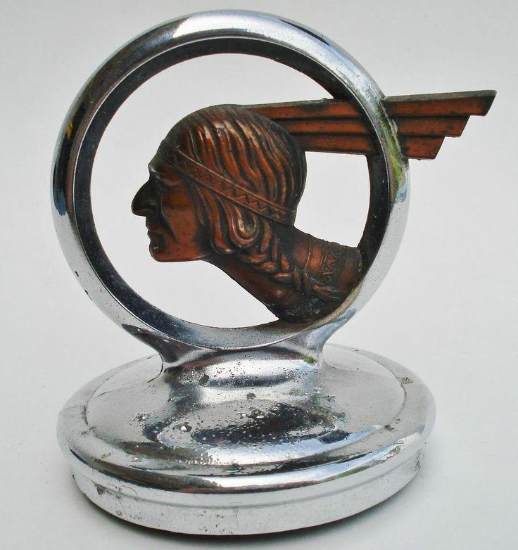 1932 pontiac indian head radiator emblem    hood ornament