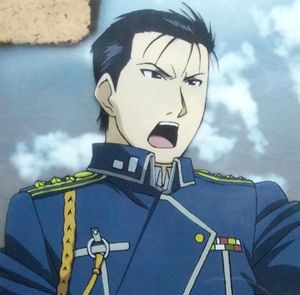 Roy Mustang (ロイ・マスタング Roi Masutangu), also known as the Flame Alchemist (炎の錬金術師 Honō no Renkinjutsushi), is the tritagonist of the Fullmetal Alchemist series. He is a State Alchemist and officer in the Amestrian State Military. A hero of the Ishval Civil War and Edward Elric's superior officer, Colonel Mustang is a remarkably capable commander who plans to become the next Führer of Amestris. Roy Mustang is a sophisticated man in the prime of life. With his dark, piercing eyes and...