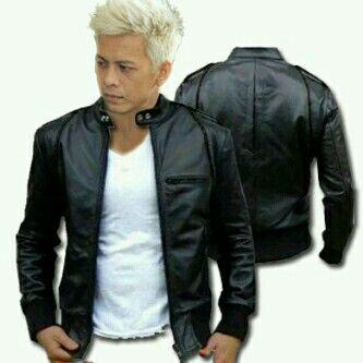 jaket kulit ariel sk24 list hitam size s-xl