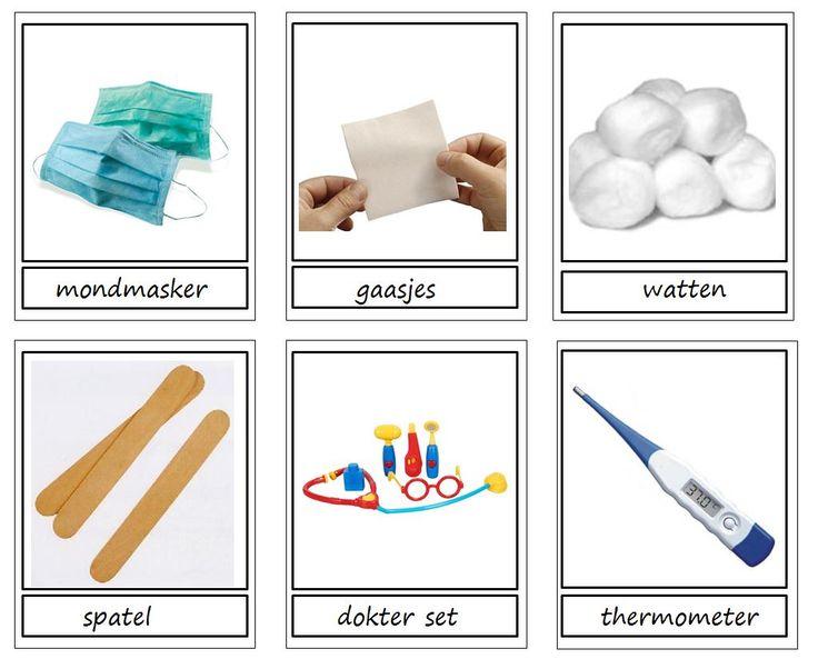 pictogrammen thema ziek zijn. ideaal voor de doktershoek om op te ruimen of als woordkaarten. Original by Juf Wendy