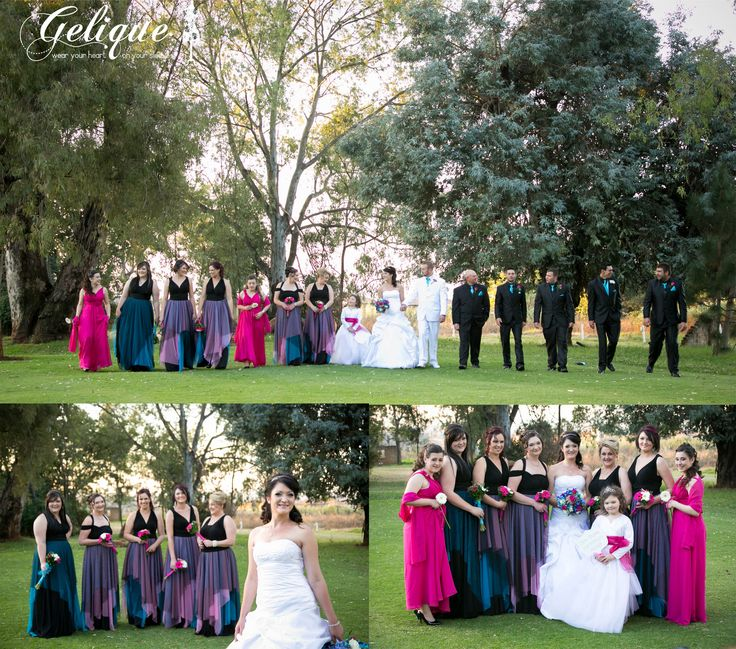 Gelique bridesmaid dresses R650 for long and R600 for short Contact us for more info -  http://www.geliqueonline.com/