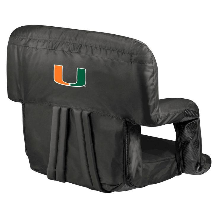 Portable Stadium Seats NCAA Miami Hurricanes Black