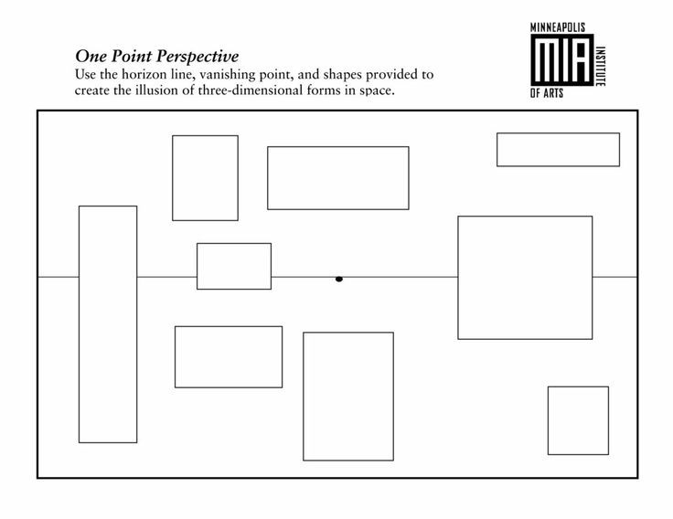 1 Point Perspective Lesson Plan | One & Two point perspective