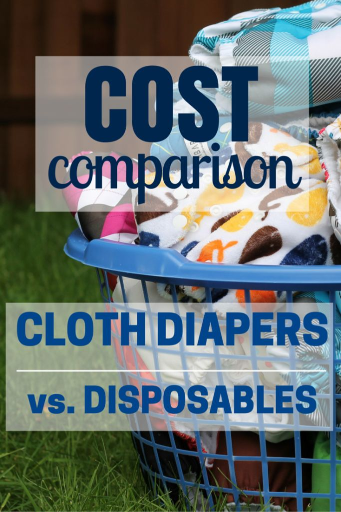Cloth Diapers vs. Disposables: Cost Comparison. Full breakdown of the costs, and how much money can be saved! #cloth #diapers