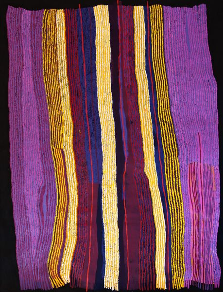 Ray Ken / Ngayuku Ngura - My Country  197 x 152 cm I love the colors in this piece--wouldn't it make a stunning quilt?