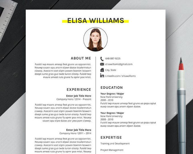 professional resume template cover letter cv template ms word creative resume design