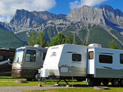RV Camping Canmore full hook ups